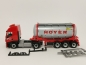 "Preview: 309813  Iveco Stralis XP Swapcontainer-Sattelzug ""Hoyer Chemie"" Herpa"