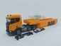 Mobile Preview: Scania CR ND XT 6x2 Betonteile Sattelzug orange Herpa