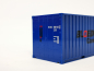 "Preview: 20ft. Container ""Bloedorn"", blau Herpa"