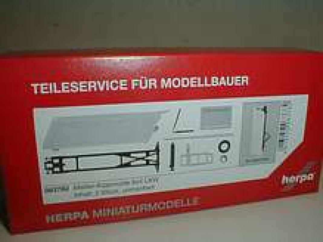 Herpa 084932-1//87 Fahrgestell MB Atego 3-Seiten Kipper 2 Stück