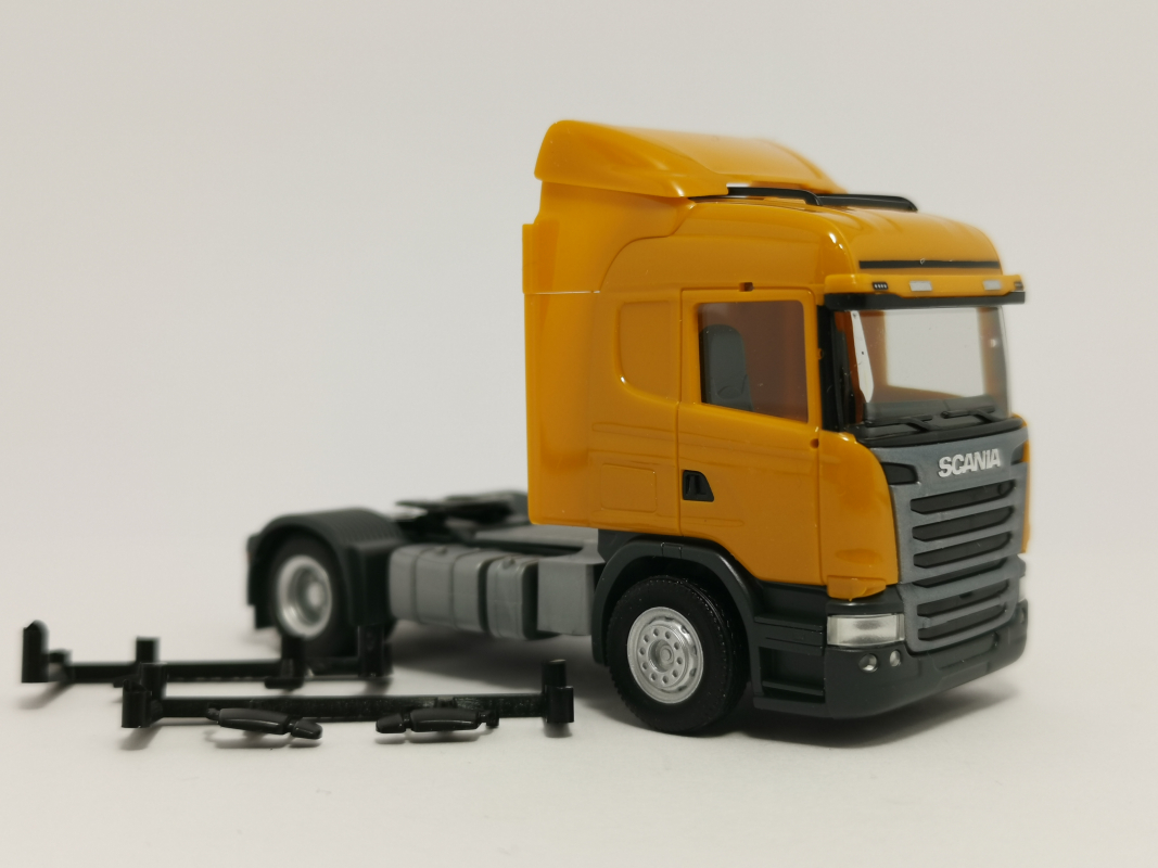 Scania R Highline dunkelorange Herpa