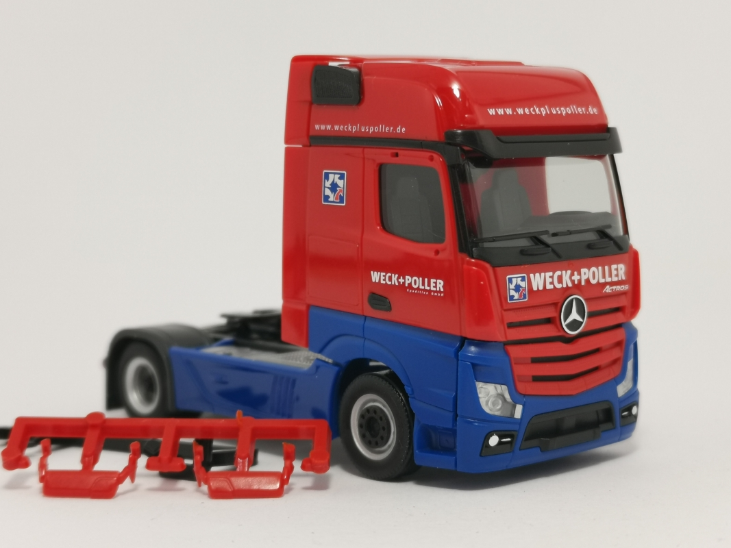 "Mb Actros Bigspace Zugmaschine   ""Weck + Poller"" Herpa"