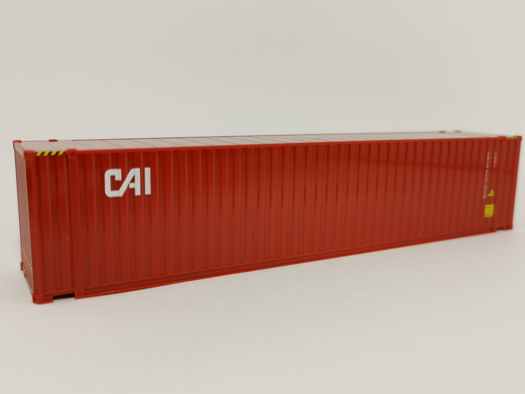 "CAI"" Box-Container in Rot 45 ft Herpa"