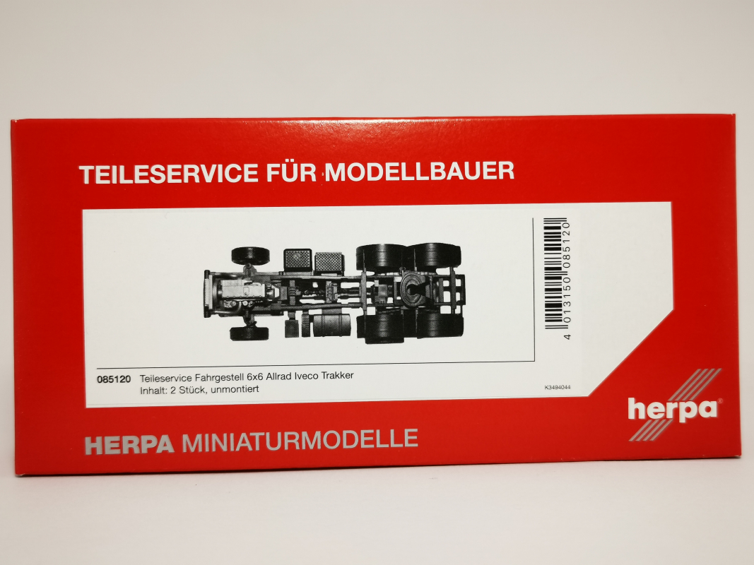 085120 Teileservice Allrad-Fahrgestell Iveco Trakker 6x6 (2 Stück) Herpa
