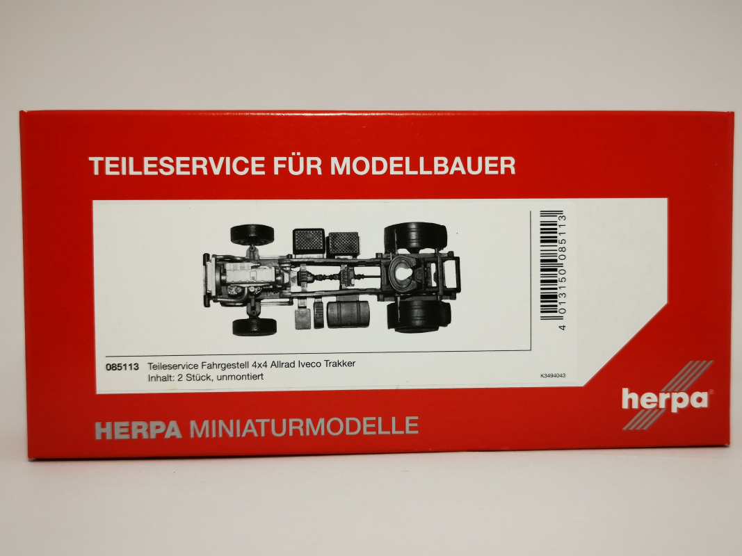 085113 Teileservice Allrad-Fahrgestell Iveco Trakker 4x4 (2 Stück) Herpa