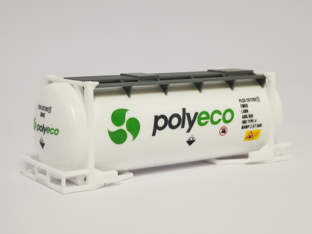 "Swapcontainer 20ft. ""polyeco"" Herpa"