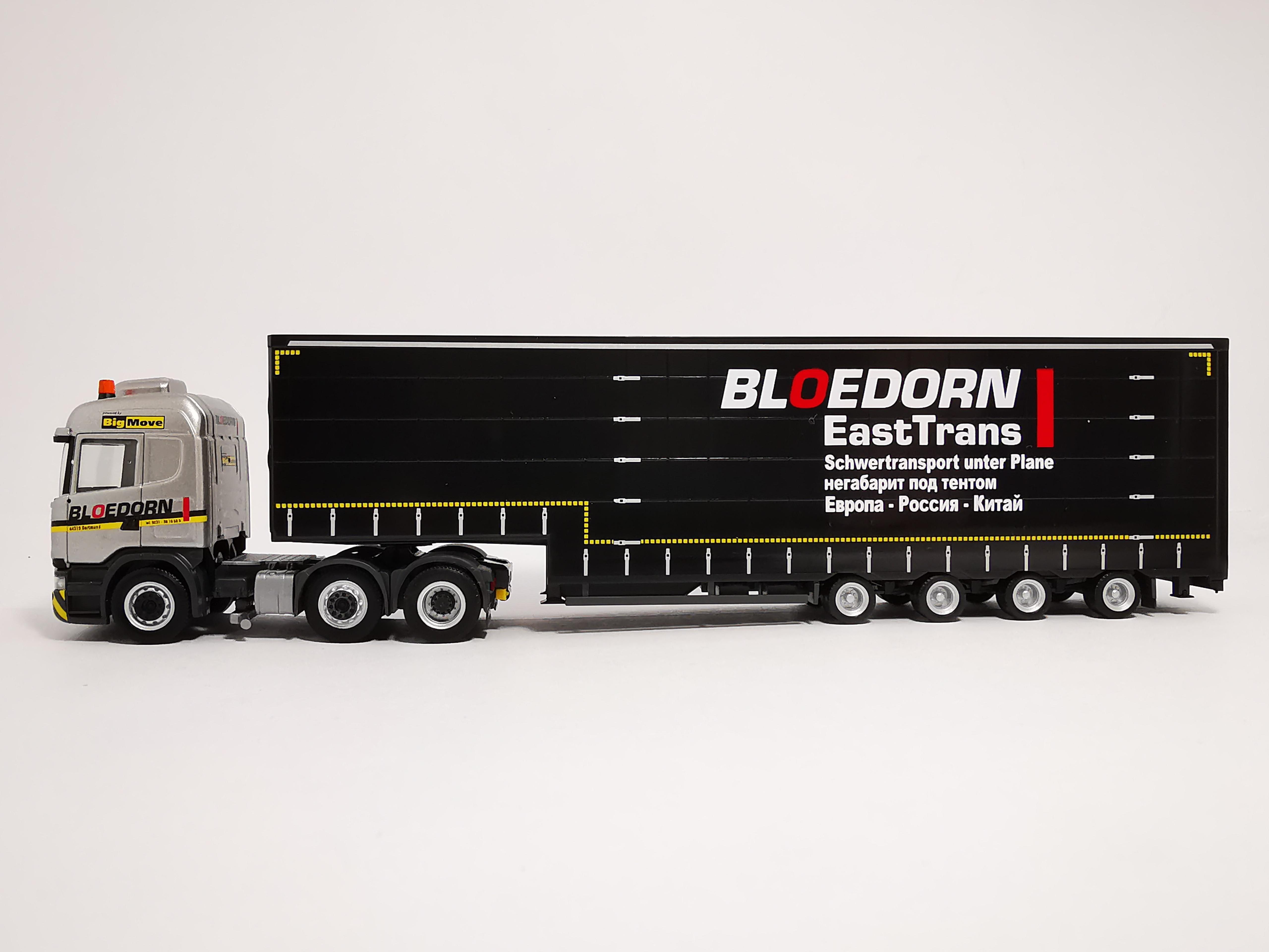 Herpa 311625 Scania R13 HL Volumen-Sattelzug Bloedorn