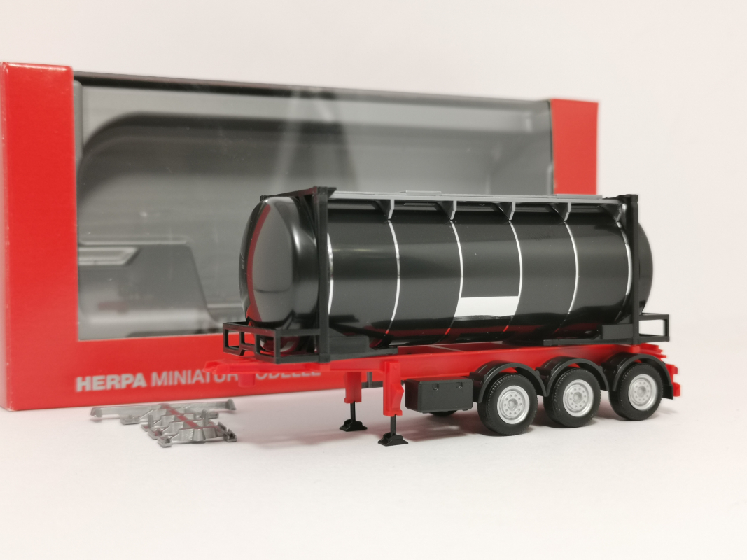 076678 26 ft. Containerchassis mit Swapcontainer, schwarz **002 Herpa